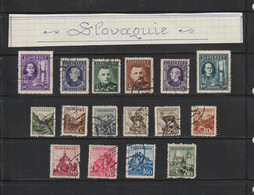 SLOVAQUIE -- Années : 1939 / 1943  -  Lot De 16 Timbres Divers  -  Voir Les 2 Scannes - Sin Clasificación