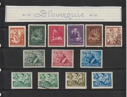 SLOVAQUIE --  Années : 1939 / 1942  --  Lot De 13 Timbres Divers  -  Voir Les 2 Scannes - Sin Clasificación