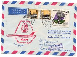 Bratislava Kiew 1971 - CSA Ilioutchine 62 - 1er Vol Flight Erstflug - Kijev Kiev - Ukraine Ukran - Cartas