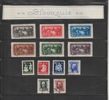 SLOVAQUIE --  Années : 1942 / 1944  --  Lot De 12 Timbres Divers  -  Voir Les 2 Scannes - Sin Clasificación