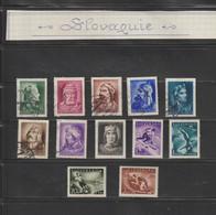 SLOVAQUIE --  Année : 1944  --  Lot De 12 Timbres Divers  -  Voir Les 2 Scannes - Sin Clasificación