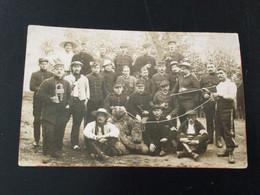Carte Photo Du Camp De Prisonniers De Soltau (1916) + Cachet De Censure Au Dos - Otros