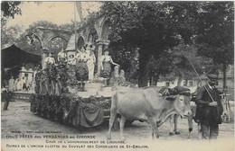 33 GIRONDE BORDEAUX FETE VENDANGES 1909  CHAR ARRONDISSEMENT LIBOURNE ATTELAGE BEAU PLAN  ANIMATION A  VOIR - Bordeaux