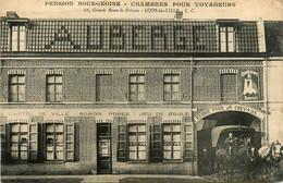 Loos  Lez Lille * Devanture Auberge Pension Bourgeoise De L'hôtel De Ville SOMON POREZ * Diligence * Jeu De Boules - Loos Les Lille