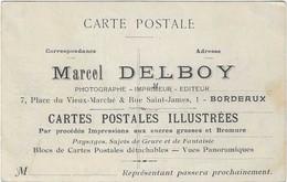 33 GIRONDE BORDEAUX PUB MARCEL DELBOY CARTES POSTALES  FETE VENDANGES 1909  CHAR DU COGNAC ANIMATION A  VOIR - Bordeaux