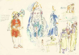 "Oskar Kokoschka - Königin Der Nacht - Entwürfe Zu Mozarts ""Zauberflöte"" - Salzburger Festspiele 1955/56 - Pittura & Quadri"