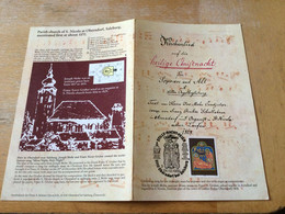 K16 Österreich 1990 Faltblatt Weihnachten Sst. Oberndorf Bei Salzburg - 1981-90 Cartas