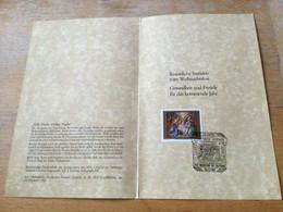 K16 Österreich 1991 Faltblatt Weihnachten Sst. Oberndorf Bei Salzburg - 1991-00 Cartas