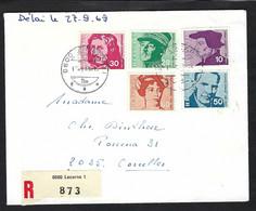 SUISSE 1969: LSC Rec. De Locarno Pour Corcelles - Briefe U. Dokumente
