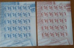 Polynésie Feuilles Entières Avec Coin Datés 2009 867 868 - Ungebraucht