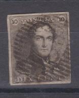 Belgique N°1 10c épaulettes P VISAGE  Margé, Pour Marges, Variétés, Nuances Voir Scan; Petite Déchirure Coin Sup Gauche - 1849 Mostrine