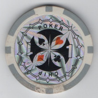 Jeton De Fantaisie : Poker Chip 1 - Casino