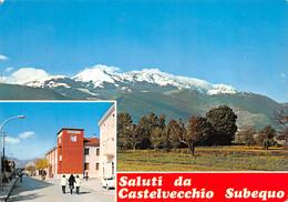 Castelvecchio Subequo (Italie) - Saluti - Multivues - Other Cities