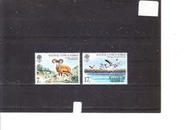 Europa 1986 Chypre - Protection De La Nature - Mouflon Et Cèdres - Flamants Au Lac De Larnaca - 1986