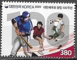 SOUTH KOREA, 2020, MNH,  SPORTS, OLYMPIC COMMITTEE,  FOOTBALL, TENNIS, BASEBALL,1v - Non Classificati