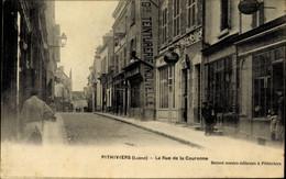 CPA Pithiviers Loiret, La Rue De La Couronne, Straßenpartie, Teinturerie Nouvelle - Altri Comuni