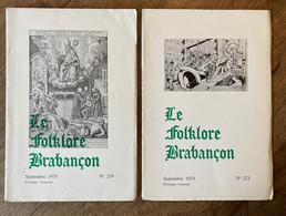 2 X Le FOLKLORE BRABANÇON -  1978 & 1979 - Watermael - Boitsfort - Saint-Gilles - Cloches Carillon Bruxelles Beffroi ... - Belgien