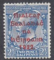 Ireland, Scott #27, Mint Hinged, George V Overprinted, Issued 1922 - Unused Stamps