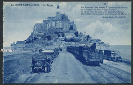 Le Mont Saint-Michel - La Digue (Poème Marie-Paule Salonne) - N° 64 - J. Nozais éditeur - Voir 2 Scans - Stations - Met Treinen