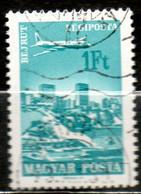 HONGRIE P Aérienne 1fo Turquoise 1966 N° 281 - Gebraucht