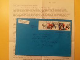 1984 BUSTA LETTERA STATI UNITI UNITED STATES U.S.A. AIR MAIL BOLLO OLYMPIC GAMES OBLITERE'  POR GERMANY - 3c. 1961-... Cartas