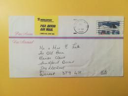 1994 BUSTA PAR AVION STATI UNITI UNITED STATES U.S.A. AIR MAIL BOLLO  OBLITERE' NEW YORK POR ENGLAND - 3c. 1961-... Cartas