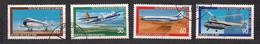 Berlin Berlijn 1980 Yvertn° 578-581 (°) Oblitéré Cote 6,00 € Avions Vliegtuigen Airplanes - Usados