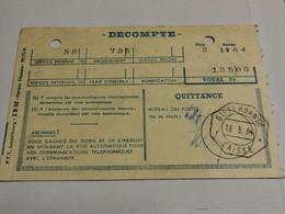 Quittance Taxes Téléphoniques, Cachet Differdange 1964 - Briefe U. Dokumente
