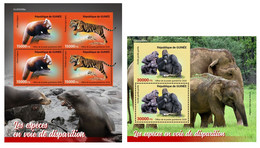Guinea 2020 Endangered Species. (306b) OFFICIAL ISSUE - Gorilas