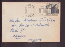 Etats-Unis, Enveloppe Du 8 Janvier 1969 De Las Vegas Pour Paris - Cartas