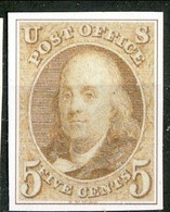 1847 US N. 1 C. 5 Bruno Catalogo € 3500 Bella Riproduzione - Ungebraucht