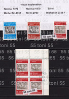 1979 PHILASERDICA Error (Michel 2738 F) The First Edition With The Color Of The Second Edition 1v.-used(O)Block Of Fou - Nuevos