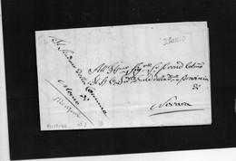 CG20 - Lettera Dal Comune Di Momo 21/12/1843 Per Novara- Ann. Corsivo Nero Di Momo - ...-1850 Préphilatélie