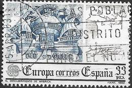 SPAIN 1982 Europa -  33p - Symbolic Ship, Columbus Map Of La Spanola And Signature (Discovery Of America) FU - 1981-90 Usados