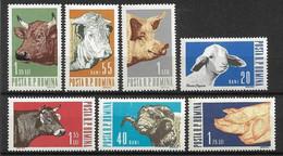 Rumänien 1962 Haustiere Mi.- Nr. 2117 - 2123 **/MNH - Granjas