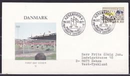 Danmark, 1971, Soccer, FDC, Mailed - Storia Postale