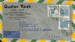 [909189]B/TB//-Brésil 1955 - PAR AVION, Gustav Raab, Personnalités - Cartas