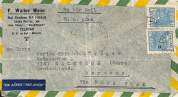 [909201]B/TB//-Brésil 1958 - PAR AVION, F. Walter Meier - Cartas