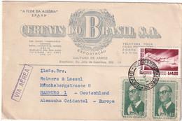 BRESDIL 1968 PLI AERIEN POUR HAMBURG - Cartas