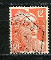 FRANCE - 12F TYPE M. DE GANDON - N° Yvert 885 Obli. CàD HEXAGONAL PERLÉ De ??VILLE De 1952 - 1921-1960: Période Moderne