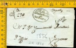 Piego Con Testo Lonato Brescia Per Gargnano - 1. ...-1850 Vorphilatelie
