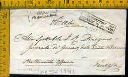 Piego Con Testo Bassano Vicenza Ginnasio Per Venezia - 1. ...-1850 Vorphilatelie