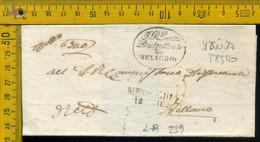 Piego Senza Testo Menaggio Como Per Colico Bellano - 1. ...-1850 Vorphilatelie
