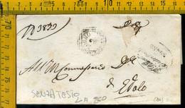 Piego Senza Testo Zogno Bergamo Per Edolo Brescia - 1. ...-1850 Vorphilatelie