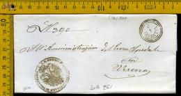 Piego Con Testo Villafranca Per Verona - 1. ...-1850 Vorphilatelie