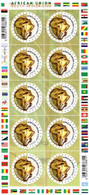 South Africa - 2002 African Union Summit Sheet (**) # SG 1385 , Mi 1446 - Hojas Bloque