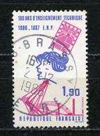 FRANCE - ENSEIGNEMENT TECHNIQUE - N° Yvert 2444 Obli Ronde De BRASSY 1986 - Oblitérés