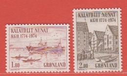 1974 Greenland ** (sans Charn., MNH, Postfrish)  Yv  76/7  Mi  88/9FA  88/9 - Nuevos