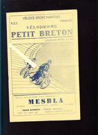 Nantes / Velo / Programme Sept 1937, Vélodromme Petit Breton, Courses Avec Antonien Magne - Programs