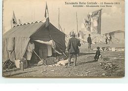 AVEZZANO - Attendamento Crace Rossa - Terremoto Italia Centrale - 13 Gennaio 1915 - Avezzano